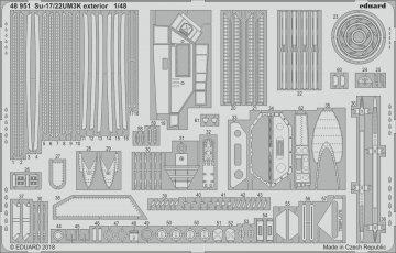 Sukhoi Su-17/22UM3K - Exterior [Kitty Hawk] · EDU 48951 ·  Eduard · 1:48