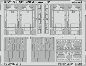 Sukhoi Su-17/22UM3K - Airbrakes [Kitty Hawk] · EDU 48952 ·  Eduard · 1:48