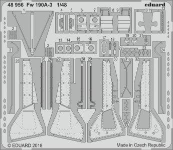 Focke Wulf Fw 190A-3 [Eduard] · EDU 48956 ·  Eduard · 1:48