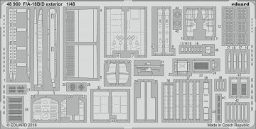 F/A-18B/D - Exterior [Kinetic] · EDU 48960 ·  Eduard · 1:48