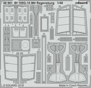 Messerschmitt Bf 109 G-10 Mtt Regensburg [Eduard] · EDU 48961 ·  Eduard · 1:48
