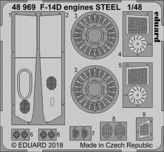 F-14D Tomcat - Engines STEEL [Tamiya] · EDU 48969 ·  Eduard · 1:48