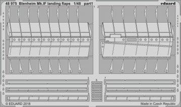 Bistol Blenheim Mk.IF - Landing flaps [Airfix] · EDU 48975 ·  Eduard · 1:48