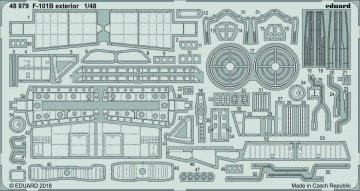F-101B Voodoo - Exterior [Kitty Hawk] · EDU 48979 ·  Eduard · 1:48