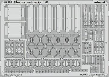 Albacore - Bomb racks [Trumpeter] · EDU 48981 ·  Eduard · 1:48