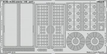 B-25G Mitchell - Exterior [Italeri] · EDU 48982 ·  Eduard · 1:48