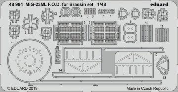 MiG-23ML - F.O.D.Brassin set [Eduard] · EDU 48984 ·  Eduard · 1:48