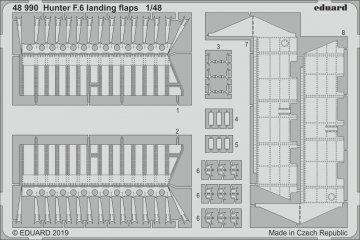 Hawker Hunter F.6 - Landing flaps [Airfix] · EDU 48990 ·  Eduard · 1:48
