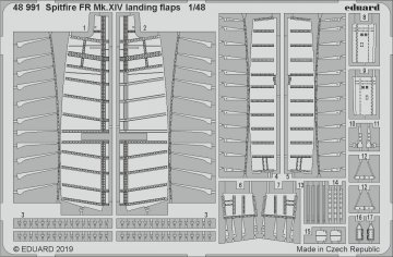 Spitfire FR Mk.XIV - Landing flaps [Airfix] · EDU 48991 ·  Eduard · 1:48