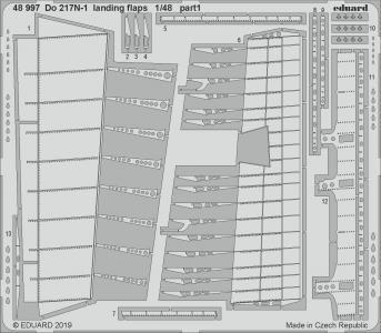 Dornier Do 217 N-1 - Landing flaps [ICM] · EDU 48997 ·  Eduard · 1:48