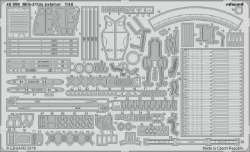 MiG-21bis - Exterior [Eduard] · EDU 48999 ·  Eduard · 1:48