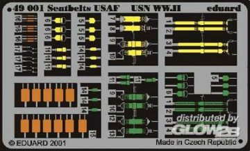 Sicherheitsgurte USAF & USN WW II · EDU 49001 ·  Eduard · 1:48