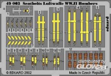 Sicherheitsgurte Luftwaffe WW.II Bombers · EDU 49003 ·  Eduard · 1:48