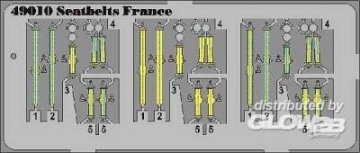 Seatbelts France · EDU 49010 ·  Eduard · 1:48