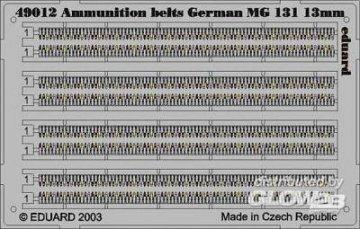 German Ammunit. Belts MG 131 13mm · EDU 49013 ·  Eduard · 1:48