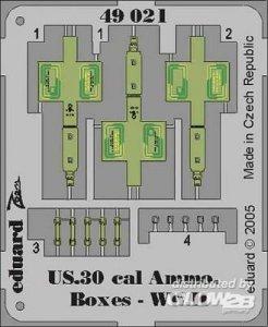US Cal.0.30 Ammo Boxes WWII · EDU 49021 ·  Eduard · 1:48