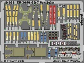 F-104G Starfighter GQ-7 Seatbels [Hasegawa] · EDU 49036 ·  Eduard · 1:48