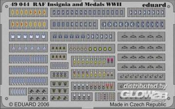 RAF Insignia and Medals WWII · EDU 49044 ·  Eduard · 1:48