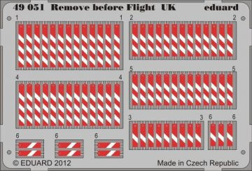 Remove before flight UK · EDU 49051 ·  Eduard · 1:48