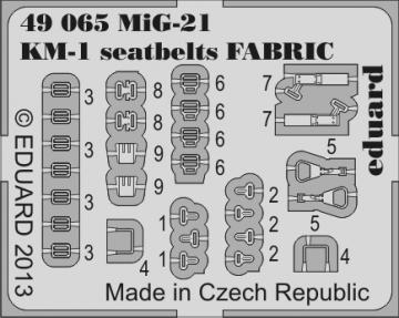 MiG-21 KM-1 - Seatbelts FABRIC · EDU 49065 ·  Eduard · 1:48