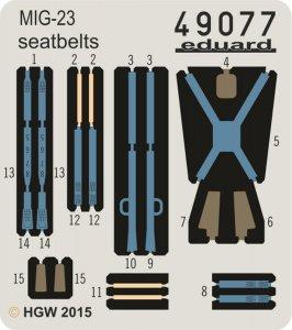 MiG-23 - Seatbelts FABRIC [Trumpeter] · EDU 49077 ·  Eduard · 1:48