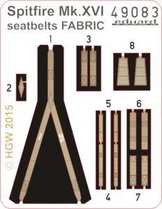 Spitfire Mk.XVI - Seatbelts FABRIC [Eduard] · EDU 49083 ·  Eduard · 1:48