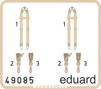 Seatbelts Luftwaffe WWII bombers SUPERFABRIC · EDU 49085 ·  Eduard · 1:48