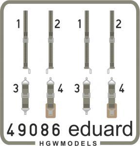 Seatbelts USN WWII green SUPERFABRIC · EDU 49086 ·  Eduard · 1:48