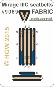 Mirage IIIC - Seatbelts FARBIC [Eduard] · EDU 49089 ·  Eduard · 1:48