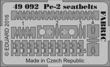 Petlyakov Pe-2 - Seatbelts FABRIC [Zvezda] · EDU 49092 ·  Eduard · 1:48