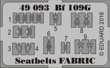 Messerschmitt Bf 109G seatbelts FABRIC [Eduard] · EDU 49093 ·  Eduard · 1:48