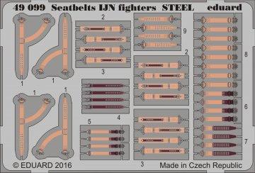 Seatbelts IJN fighters STEEL · EDU 49099 ·  Eduard · 1:48