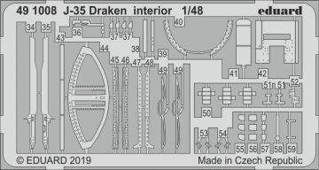J-35 Draken - Interior [Hasegawa] · EDU 491008 ·  Eduard · 1:48