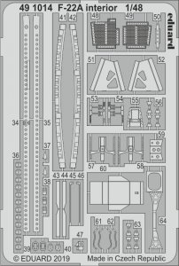 F-22A Raptor - Interior [Hasegawa] · EDU 491014 ·  Eduard · 1:48