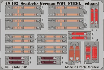Seatbelts German WWI STEEL · EDU 49102 ·  Eduard · 1:48