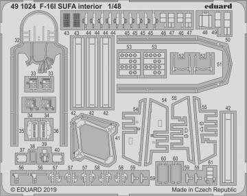 F-16I SUFA - Interior [Hasegawa] · EDU 491024 ·  Eduard · 1:48