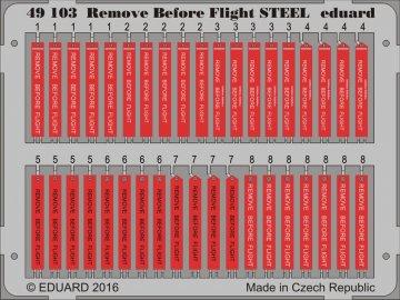 Remove Before Flight STEEL · EDU 49103 ·  Eduard · 1:48