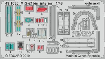 MiG-21bis - Interior [Eduard] · EDU 491036 ·  Eduard · 1:48