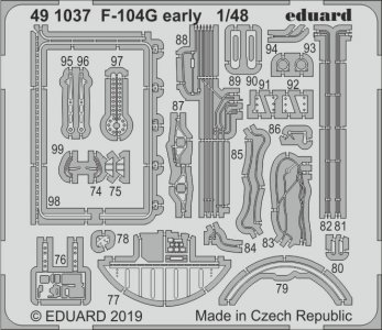 F-104G Starfighter early [Kinetic] · EDU 491037 ·  Eduard · 1:48