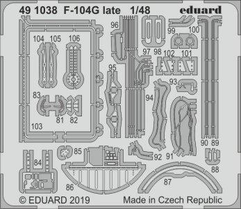 F-104G Starfighter late [Kinetic] · EDU 491038 ·  Eduard · 1:48