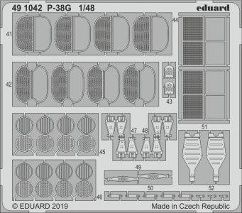 P-38G Lightning [Tamiya] · EDU 491042 ·  Eduard · 1:48