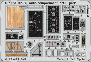 B-17G - Radio compartment [HKM] · EDU 491058 ·  Eduard · 1:48