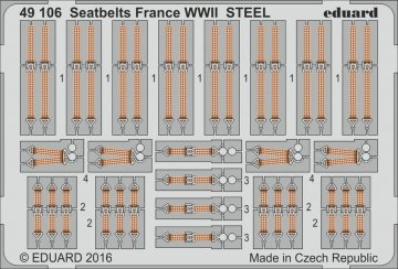 Seatbelts France WWII STEEL · EDU 49106 ·  Eduard · 1:48