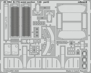 B-17G - Waist section [HKM] · EDU 491062 ·  Eduard · 1:48