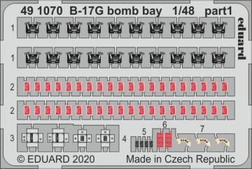 B-17G - Bomb bay [HKM] · EDU 491070 ·  Eduard · 1:48