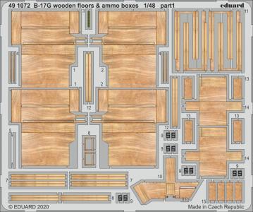 B-17G - Wooden floors & ammo boxes [HKM] · EDU 491072 ·  Eduard · 1:48