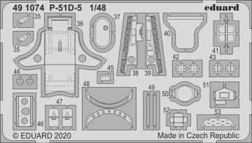 P-51D-5 Mustang - Interior [Airfix] · EDU 491074 ·  Eduard · 1:48
