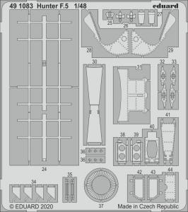 Hunter F.5 [Airfix] · EDU 491083 ·  Eduard · 1:48
