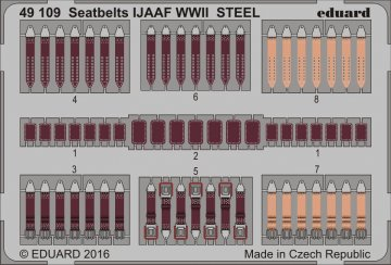 Seatbelts IJAAF WWII STEEL · EDU 49109 ·  Eduard · 1:48