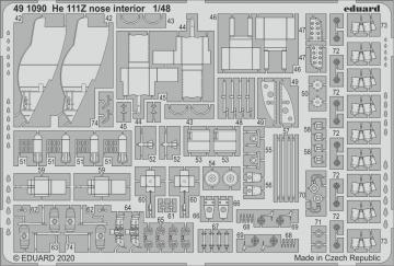 Heinkel He 111Z - Nose interior [ICM] · EDU 491090 ·  Eduard · 1:48